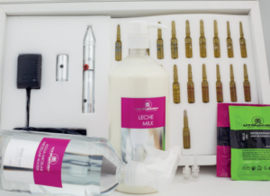 Derma Pen bzw. Microneedling Pen - Professionelles Set: Microneedling Gerät mit Kosmetikprodukte