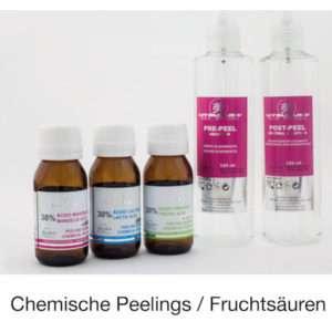 Fruchtsäure Peeling - chemisches Peeling mit Mandelsäure-Peeling, Milchsäure-Peeling oder Brenztraubensäure-Peeling (pyruvic acid)