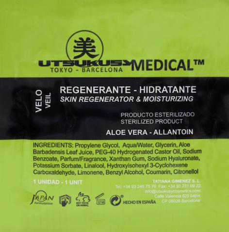 Sterile regenerierende Gesichtsmaske mit Aloe Vera u. Hyaluronsäure - ideal nach Microneedling mit Dermapen o. Dermaroller