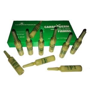 Körper Serum -10 sterile Ampullen Carboxderm Firming Serum bei schlaffer, faltiger Haut - geeignet für Microneedling (Derma Pen/Dermaroller) o. nach Peeling