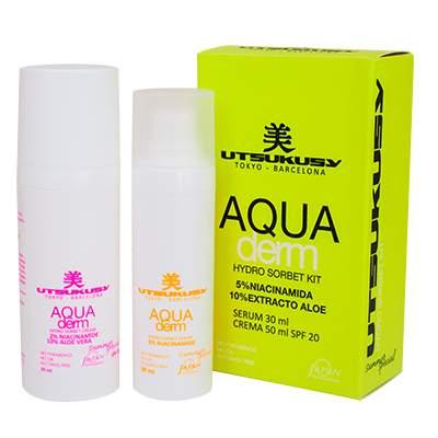 Aqua derm Gesichtscreme und Gesichtsserum von Utsukusy Cosmetics